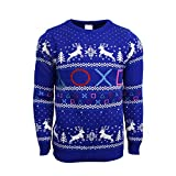 Official Playstation Symbols Christmas Jumper/Ugly Sweater UK L/US M Blue