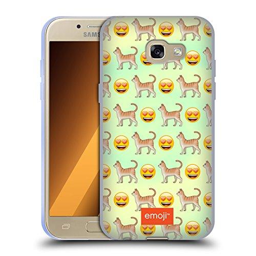 Head Case Designs Oficial Emoji Gato Animales Carcasa de Gel de Silicona Compatible con Samsung Galaxy A3 (2017)