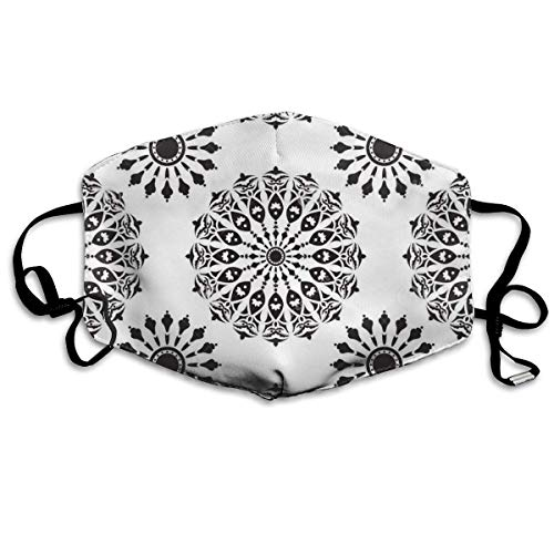 Mouth Mask Mandalas Pattern Print Masks - Breathable Adjustable Windproof Mouth-Muffle, Camping Running For Women And Men