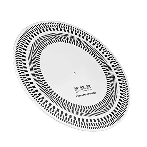 Mugast Disco stroboscopico di calibrazione del contagiri fono Giradischi con Disco in Vinile LP per Il rilevamento della velocità di Rotazione