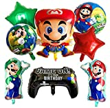 Globo de Foil Super Mario Decoraciones de Cumpleaños de Super Mario Aluminio Globo Suministros de Fiesta 8PCS