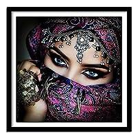 ダイヤモンド絵画キット 大人 子供用 ベールをかぶった女性-A ナンバーキット フルドリル ラインストーン 刺繍 クロスステッチ サプライ アート クラフト キャンバス 壁装飾 30x40cm