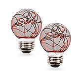 SleekLighting 0.5 watt LED Light Bulb - Fairy light G16 – General Purpose Red LED Light Bulb – UL Approved – Uses half a Watt of Energy, 110 Volts, Instant On, Average Life 10,000 Hours