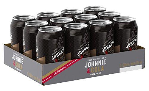 Johnnie Walker Red Label Whisky & Cola Mix-Getränk, EINWEG (12 x 0.33 l)