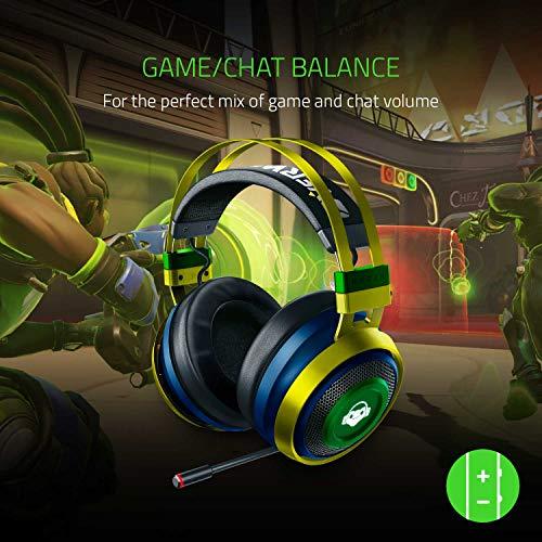 Razer Nari Ultimate Overwatch Lucio – Wireless Gaming Headset (Kabellose HyperSense Kopfhörer, Ohrpolster mit Kältegel, THX Spatial Audio & RGB Chroma Beleuchtung für PC, Xbox One, PS4 & Switch)