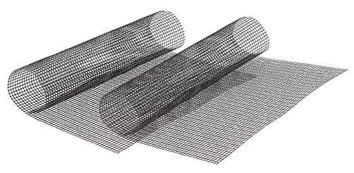 Rosenstein & Söhne Grillfolie: 2x Profi-Silikon Dauer-Back- & Grillmatte 42x36cm, antihaft (Grillmatte Gitter)
