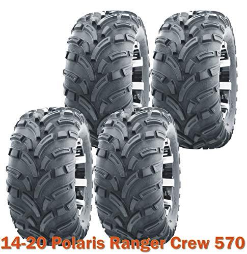 25x10-12 Complete Set WANDA ATV Tires for 14-20 Polaris Ranger Crew 570