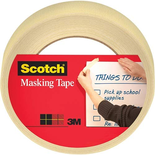 Scotch Home and Office Masking Tape, 3436-3, 0.75 inches x 60 yards, 3 Pack