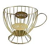 FUKAIUK Cápsula de café, cesta de almacenamiento para encimera de cocina Tassimo, Nespresso, Dolce Gusto