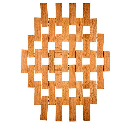 Tischuntersetzer aus Holz, natürlich, moderne Untersetzer für heiße Töpfe