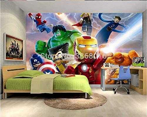 Aangepaste Foto 3d Lego Avengers Wallpaper Kinderen Cartoon Animatie Kinderen Slaapkamer Kamer Decoratie Tv Achtergrond Wandbekleding