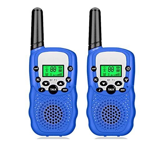 AILSAYA Walkie-Talkie Children PMR446 8-Channel Dual-Use Radio for Children with Flashlight VOX Walkie-Talkie Set Children's Gifts Children's Toys 1 Pair,A