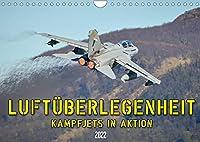 Luftueberlegenheit - Kampfjets in Aktion (Wandkalender 2022 DIN A4 quer): Faszinierende Aufnahmen von Kampfjets in Aktion. (Monatskalender, 14 Seiten )