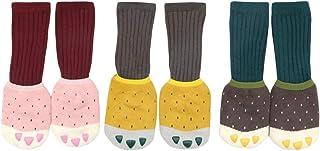 DEBAIJIA, 3 Pares de Calcetines de Algodón para Bebé 0-5 Años Suaves Cómodos Cálidos Antideslizante Niños Niñas Calcetines Otoño Invierno