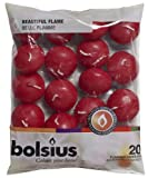 20 Bolsius 5 Hour Quality Wine Red (Dark) Floating Candles, by White...
