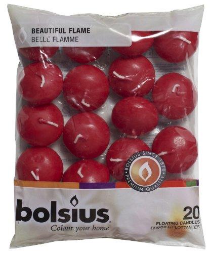 candele profumate rosse Bolsius candela galleggiante