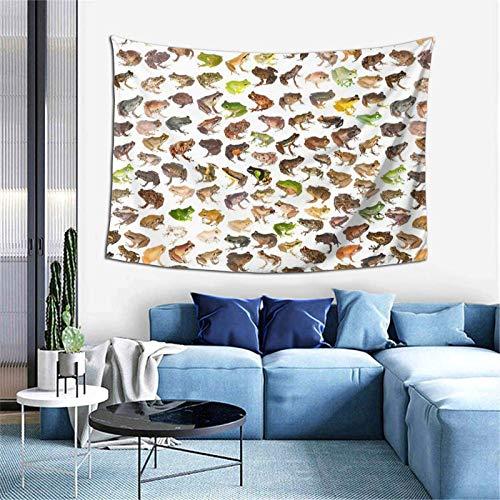 Tapiz para colgar en la pared, 101 ranas de Madagascar, decoración del hogar, 152,4 x 101,6 cm, para dormitorio