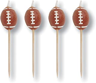 Creative Converting 4 Count Sports Fanatic Football Shaped Pick Candles