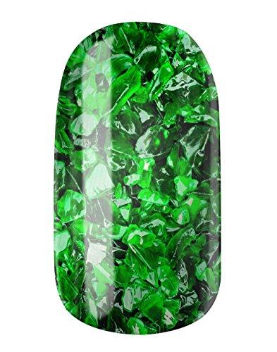 Nagel fogli by Glam Stripes Nail Wraps–Green Sailfish