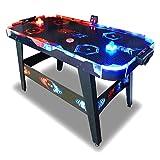 Pro Soccer Air Hockey Table à air - Table de Air Hockey 146 Cm Fire & Ice LED- Jeux de Palet - Jeux Arcades Bar