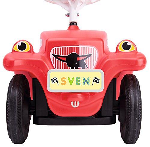 BIG - Bobby Car Mein Nummernschild - Namensschild für das Rutschfahrzeug, Inklusive Führerschein für die kleinen Fahrer, mit Stickern zum selber basteln, für Kinder ab 1 Jahr