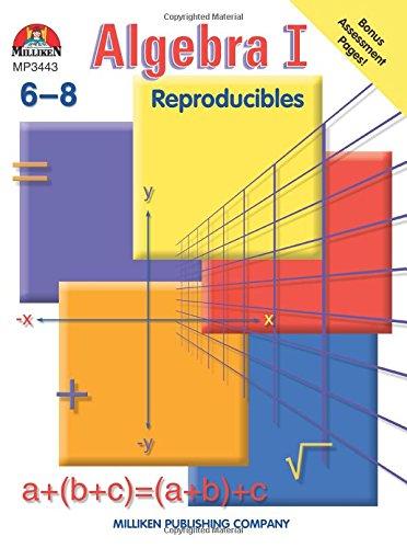 Algebra I Reproducibles Grades 6 8