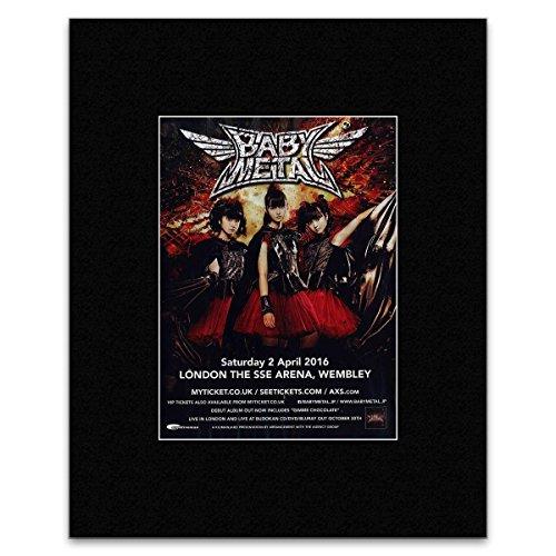 Kerrang Mini-Poster, Motiv: Babymetal - London SSE Arena 2016, 28 x 21 cm