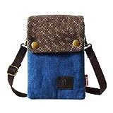Sale LassZone Women Small Canvas Crossbody Purse Cell Phone Pouch Coin Wallet Handbag Mini Tote Shoulder Bags