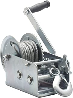 OPENROAD Heavy Duty 2500lbs Boat Trailer Winch with Steel Cable