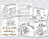 ♥ 12 Printed Greeting Cards Assorted Designs, Comes with 12 White Envelopes ♥ High Quality Greeting Cards, Not tear out style ♥ Cards measure 5 x 7 inches ♥ Printed on high quality matte smooth finish card stock. ♥ Made in the USA