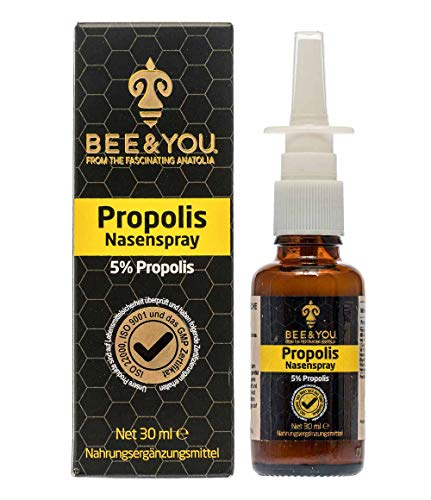 Bee & You Propolis Nasenspray 30 ml (Wohltuende Zusammenmischung - Fairer Handel - Natürliche & kontrollierte Zutaten)