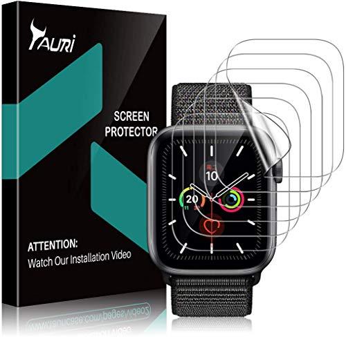 TAURI [6 Stücke Schutzfolie für Apple Watch Series 42mm Series 3/2/1 Displayschutz, [Klar HD][Blasenfreie] Weich TPU Folie Displayschutzfolie