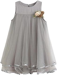 Tonsee ガールズ ワンピース ラブリー プリンセスドレス ノースリーブ フォーマル 子供服 結婚式 発表会