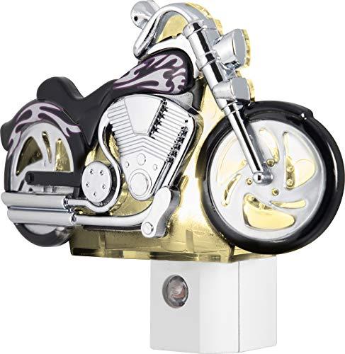 GE Motorcycle LED Plug-In Night Light, Light Sensing, 10904