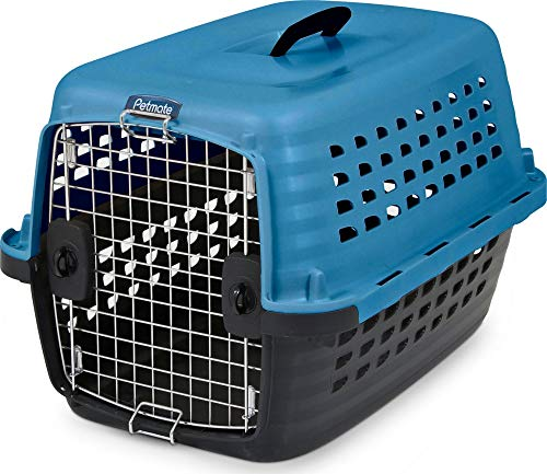 Petmate 290287 Compass Fashion Pets Kennel With Chrome Door, Island Blue/Black