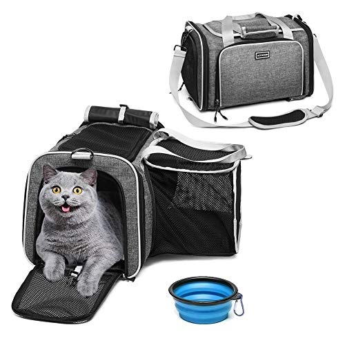 ACCOFASH Pet Carrier Premium Airline Approved Expan dable One Side...