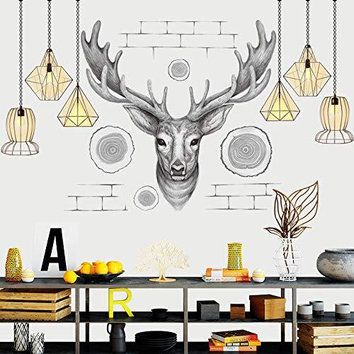 Moderne kroonluchter, groot, muurstickers, woonkamerdecoratie, woonkamer, tv, sofa, achtergrond decoratie