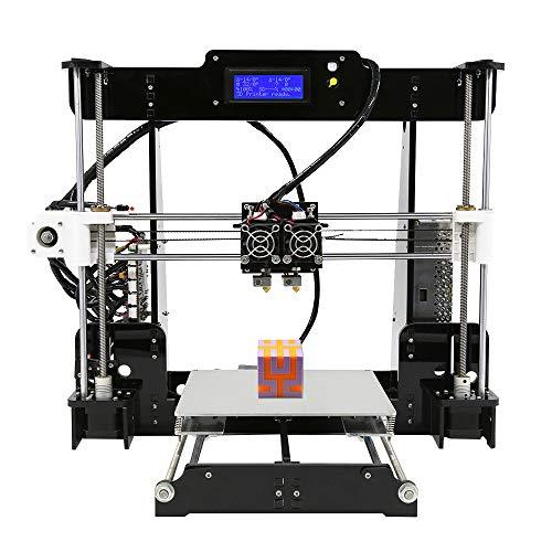 BESTSUGER Imprimante 3D, Doubles Buses Imprimante 3D Volume de Fabrication 220 * 220 * 240mm et extrudeuse pour ABS de Filament de 1,75 mm, PLA, Hanches