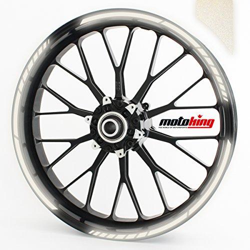 Felgenrandaufkleber GP im GP-Design passend für 17 Zoll Felgen für Motorrad, Auto & mehr - REFLEKTIEREND WEIß
