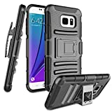 Zectoo for Galaxy S7 Case, S7 Cover, Heavy Duty Shockproof Full Body Rugged Holster Armor Hybrid Case Cover with Swivel Belt Clip & Kickstand for Galaxy S7 - Black