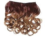 WIG ME UP - CMT-863-30TT26 clip-in extension de cheveux arrière de la tête large 5 clips bouclé boucles dégradé brun cuivré blond foncé 40 cm