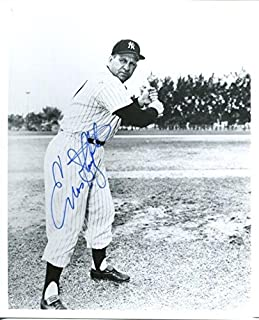 Enos Slaughter Signed Photo - 8X10 BW PSA DNA - Autographed MLB Photos
