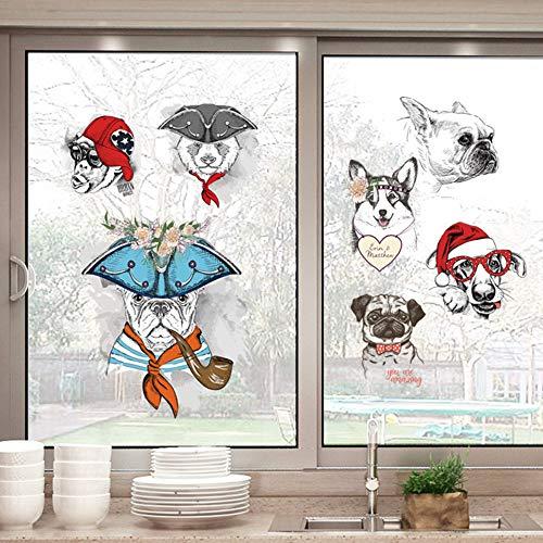 Handbeschilderde hond doe-het-zelf muur Stickers deur en raam kast koelkast baby kamer decoratieve achtergrond muur Sticker