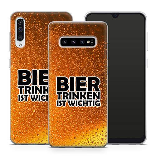 Handyhülle Bier für Samsung Silikon MMM Berlin Hülle Saufen Vodka Party Alkohol Trinken Spruch, Hüllendesign:Design 2   Silikon Klar, Kompatibel mit Handy:Samsung Galaxy S9