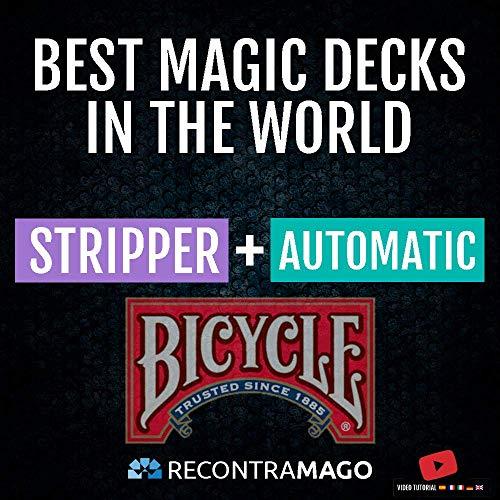 Magia Pack Bicycle - Giochi di Magia Prestigio + Accesso Sito Web Segreto con Video Istruzioni realizzate da Maghi Professionisti Colezzione Bicycle Migliori Giochi del Mondo (STRIPPER + AUTOMATIC)