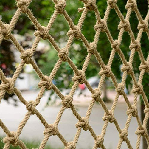 TGHY Red de Escalada para Niños Red de Seguridad para Niños 12mm de Diámetro Red de Cuerda de Cáñamo Resistente Red Protectora para Barandillas Juegos Hamaca para Exteriores,15cm,4 * 3M(13 * 10ft)
