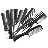 AFXOBO 10PCS Hairdressing Comb Environmental Protection Anti-Static Massage Comb Professional Styling Comb Set Package