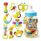 YeahiBaby Primer sonajero y mordedor juguete con mamadera gigante 9pcs bebé...