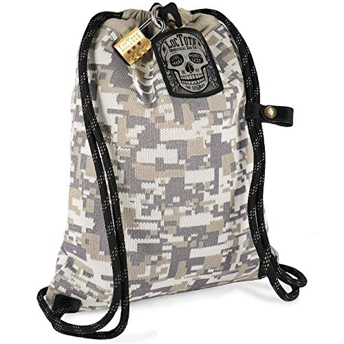LOCTOTE Flak Sack II COALITION - The Most Badass Theft-Resistant Bag | Anti-theft | Lockable | Slash-Proof | Glow-in-the-Dark