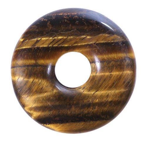 Lebensquelle Plus Tigerauge Edelstein Donut Ø 30 mm Anhänger